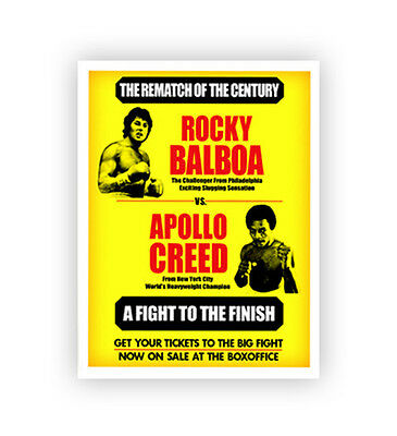 8x11 Rocky Balboa Apollo Creed Movie Prop Boxing Poster  Print Vintage Old