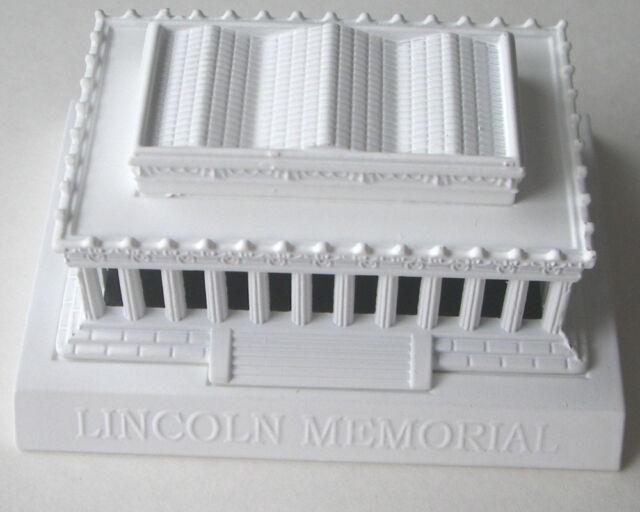 SOUVENIR METAL BUILDING   LINCOLN MEMORIAL   WHITE