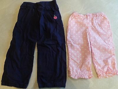Girls' Clothing (newborn-5t) Bottoms The Cheapest Price 2 Pair Girls Pants Lot Navy Circo Apple Lands' End Polka Dot Capris Size 4t Cute