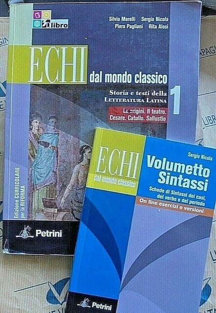 ECHI DAL MONDO CLASSICO VOL.1 con SINTASSI (IN 2 VOLUMI) - S.MARELLI - PETRINI