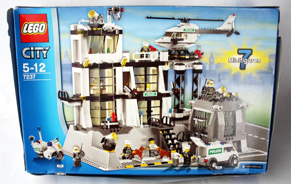 VERY RARE 2006 LEGO TOWN CITY 7237 POLICE POLICE POLICE STATION NEW MIB 63d9e3