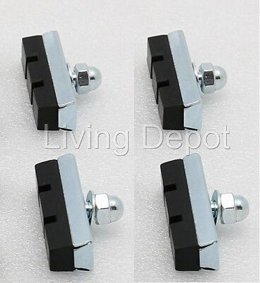 10pcs Bolt on Bicycle Bike Cycling Riding Speed Rubber Brake Pads Shoes BMX-GREY