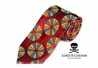 Lord R Colton Masterworks Tie - Parma Royal Red Jade & Gold Silk Necktie - on sale