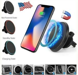 new products a1cc7 2ed90 Details about Qi Wireless Car Charger Magnetic Mount Holder For iPhone 8/X  Samsung S8 Note 8