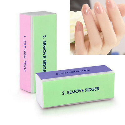2/5/10Pcs Nail Art Manicure 4 Way Shiner Buffer Buffing Block Sanding File AB C
