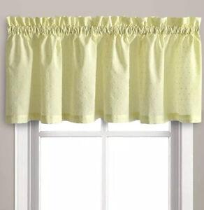 New-Dorothy-Valance-Yellow-54-034-x-14-034-Dobby-Dot-100-Cotton-Rod-Pocket