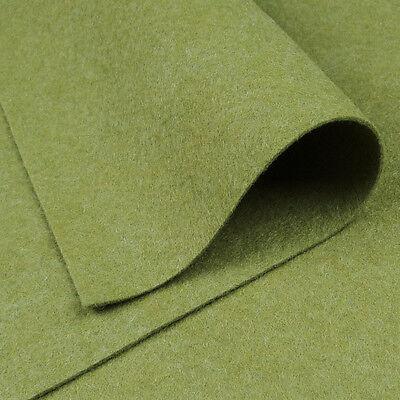 Woolfelt Mint Leaf ~ 22cm x 90cm quilting wool felt fabric green pale jade