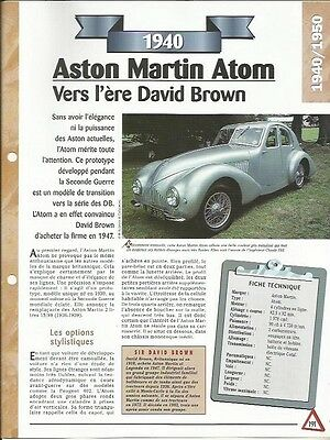 Serio Voiture Aston Martin Atom Fiche Technique Auto 1940 Collection Car Per Farti Sentire A Tuo Agio Ed Energico