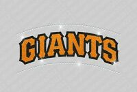 Mlb: Sf Giants - Bling - Iron-on Glitter Vinyl & Rhinestone Transfer