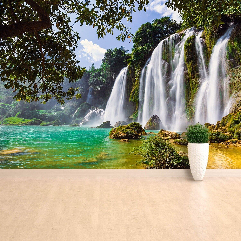 Fototapete Selbstklebend Einfach ablösbar Mehrfach klebbar Bangioc Wasserfall
