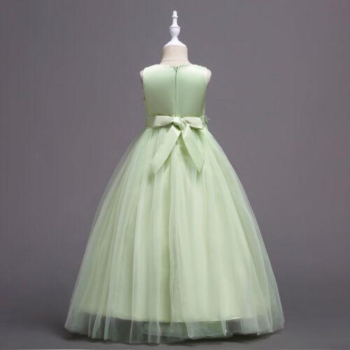 Communion Party Prom Princess Pageant Bridesmaid Wedding Flower Girls Dress ZG8