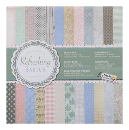 236 24 Scrapbooking Papier 30,5 cm Cardstock Mix-Match  A Frühling Pastell