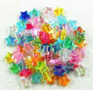 New-100Pcs-10mm-AB-Mixed-Color-Star-Acrylic-Spacer-Loose-Beads