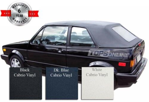Vinyl 80-94 Cab VW Rabbit Cabriolet Convertible Soft Top Cover /& Install Video