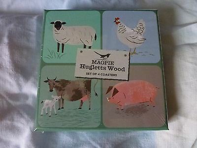 2 x Coasters Brown Horse Animal Farm Stallion Home Gift #24592