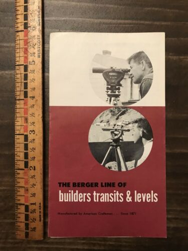 Vtg Berger Builders Transit Level Hardware Store Sales Brochure Advertising