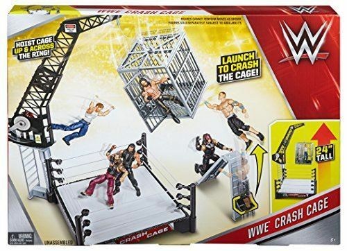 Years Mattel Boys Gift WWE Crash Cage Playset Includes Triple H Figure Toy 6