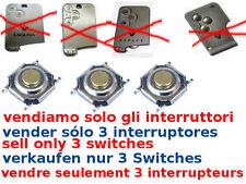 3x tasti ricambio switch cover guscio RENAULT Laguna Megane G. Espace SMART CARD