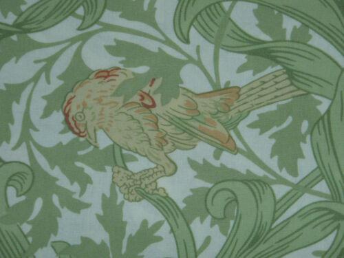 """WILLIAM MORRIS CURTAIN FABRIC DESIGN /""""Iris/"""" 3 METRES 300 CM GREEN//BLUE"""