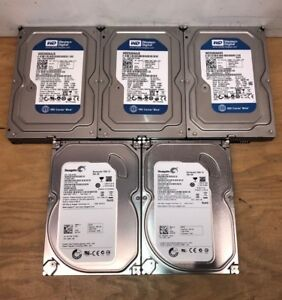 Lot-of-5-Western-Digital-Seagate-HGST-250GB-SATA-3-5-034-HDD-Internal-Hard-Drive