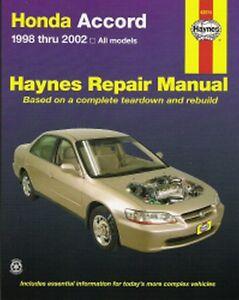 1998 1999 2000 2001 2002 honda accord haynes repair service shop rh ebay com 2001 honda accord service manual 2001 honda accord service manual download