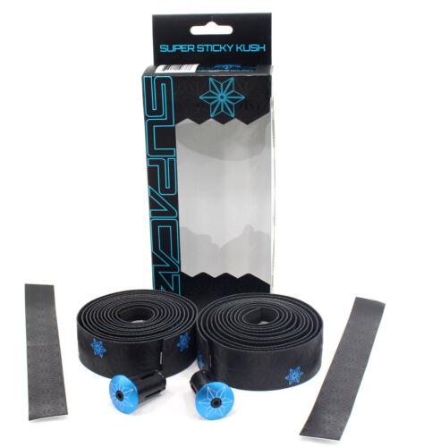 Black//Neon Blue Supacaz Super Sticky Kush Road Bike Handlebar Tape