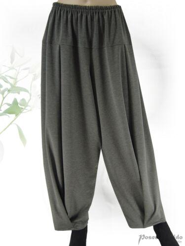 PoCo DeSiGn LAGENLOOK Winter-Jersey Hose Ballonhose schwarz  ❷Fb  L-XL-XXL-XXXL