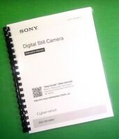 Laser Printed Sony Dsc Rx100m4 Camera 44 Page Owners Manual Guide