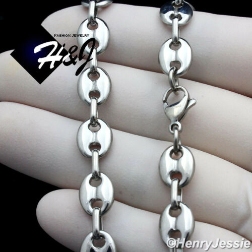 """18/""""-40/""""MEN Stainless Steel 8mm Silver Puffed Mariner Link Chain Necklace*N164"""