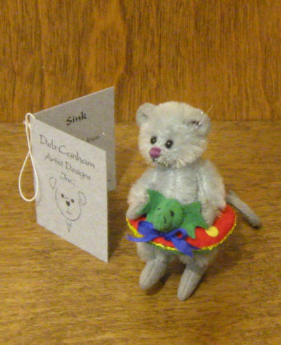 DEB CANHAM Artist Designs SINK, Mini Mice Coll. 2.75  Mohair From Retail Store