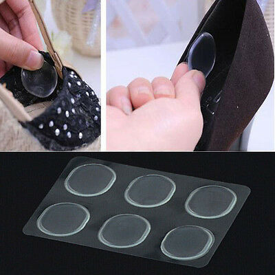 Comfy 6x Silicone Gel Shoe Insole Inserts Pad Cushion Foot Care Heel Grips Liner
