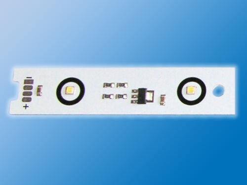 LED Alu Platine mit 6 Power LEDsTageslicht Weiß5000K12V0,5A6W