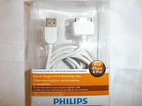 Philips Dlc2417 Ipad/ipod/iphone Sync Charge Cable 2meters/6 Feet White
