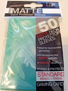 50-ULTRA-PRO-Pro-Matte-Deck-Protector-Card-Sleeves-Magic-Standard-84151-Aqua