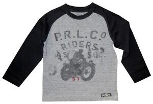 RARE-RALPH-LAUREN-POLO-RL-VINTAGE-MOTORCYCLE-RIDERS-RAGLAN-T-SHIRT-KIDS-BOYS-4-T