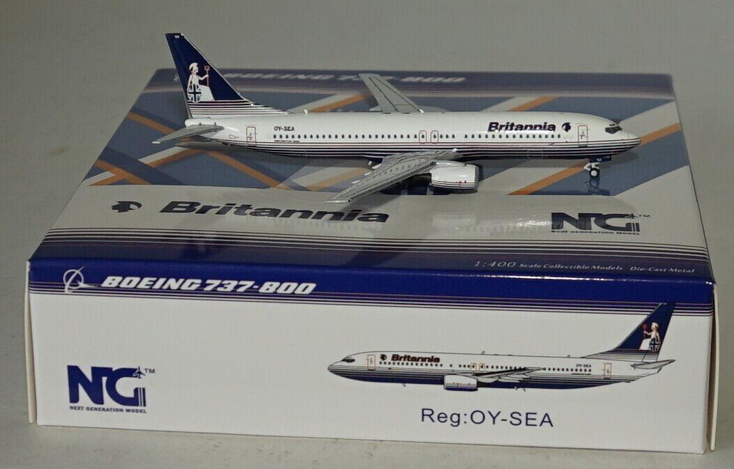 NG Model 58005 Boeing 737-8Q8 Britannia Airways Oy-Sea in 1 400 Maßstab