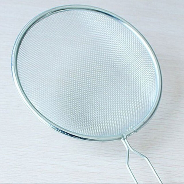 2 X Stainless Steel Strainer Wire Mesh Classic Traditional Filter ...