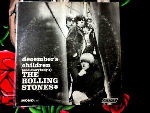 THE ROLLING STONES DECEMBER'S CHILDREN VINYL LP 1965 MAROON LABEL MONO I'M FREE