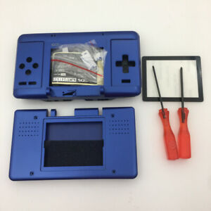 BLUE-Replacement-Housing-Shell-Case-Cover-Buttons-For-Nintendo-DS-NDS-Console
