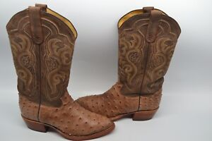 cd59ce28c35 Tony Lama 8965 Men s Vintage Full Quill EXOTIC 8.5 D Ostrich Western ...