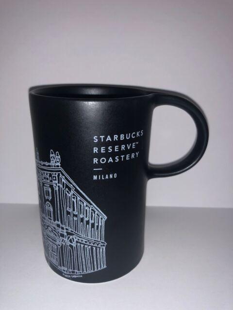 Starbucks Reserve Roastery Milan Milano Illustration Black Coffee Mug New