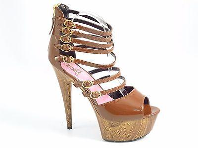 Señoras Mujeres Correas Tacón Alto Plataforma Con Tiras Sandalias Sexy De Punta Abierta Zapatos Talla