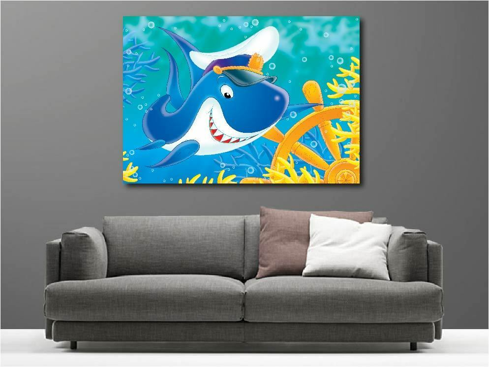 Tableaux toiles déco en kit Requin Marin réf réf réf 1945472 38dda2