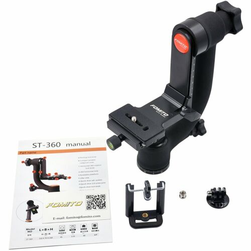 ST-360 Panoramic Gimbal Clamp Tripod Head with Arca-Swiss Quick Release Plate