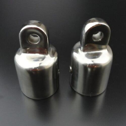 set of 8 316 Stainless Steel 7//8/'/' Eye End Cap Bimini Top Fittings Hardware