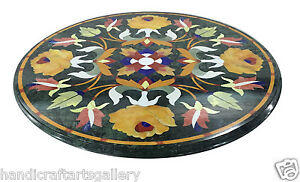 2-039-Black-Marble-Coffee-Table-Top-Semi-Precious-Inlay-Marquetry-Floral-Decor-Gift