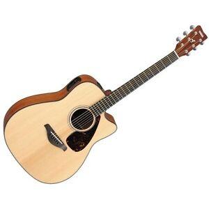 yamaha fgx800c acoustic electric folk guitar natural new free accessories ebay. Black Bedroom Furniture Sets. Home Design Ideas