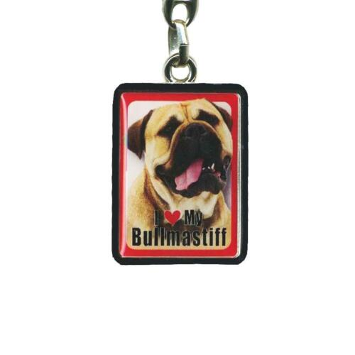 I Love My Bull Mastiff Bull Mastiff Keyring 4cm x 3cm Dog Key Ring