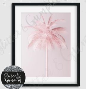 Beautiful Fashion Art Pink Palm Tree Scandi Art Print