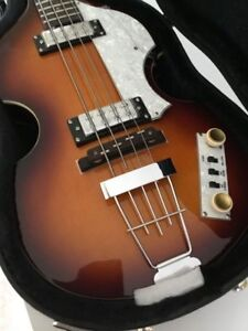 deluxe hofner beatle ignition bass guitar flatwound strings teacup knobs case ebay. Black Bedroom Furniture Sets. Home Design Ideas